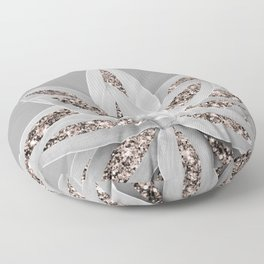 Gray Agave with Rose Gold Glitter #1 #shiny #tropical #decor #art #society6 Floor Pillow