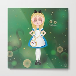 Mini Me Stars: Alice in Wonderland Metal Print