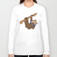 sloth Long Sleeve T-shirts featuring Sloth by Hoborobo