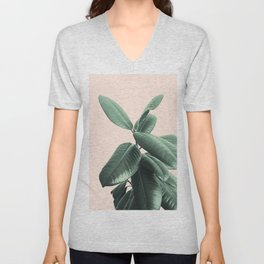 Ficus Elastica #25 #SummerVibes #foliage #decor #art #society6 Unisex V-Neck