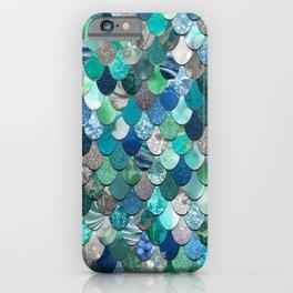 Mermaid Art, Sea,Teal, Mint, Aqua, Blue iPhone Case