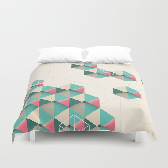 Empty cubes Duvet Cover