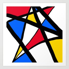 Red, Yellow, Blue Primary Abstract Art Print