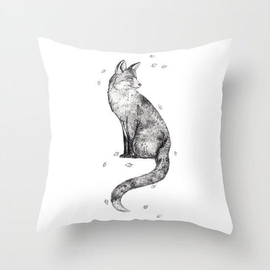 Foa // Graphite Throw Pillow