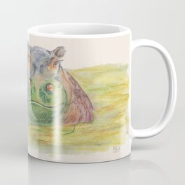 Ink Animals of Africa - Harriet Hippo Coffee Mug