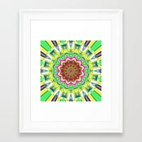 lime green Framed Art Prints featuring Lime Green Citrus Abstract by Phil Perkins
