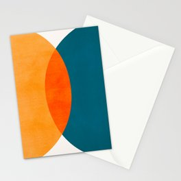 Mid Century Eclipse / Abstract Geometric Stationery Cards