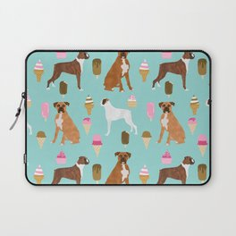 boxer ice cream dog lover pet gifts cute boxers pure breeds Laptop Sleeve