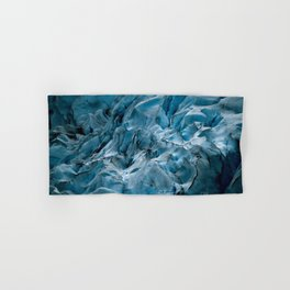 Blue Ice Glacier in Norway - Landscape Photography Hand & Bath Towel