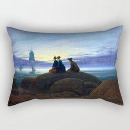 Caspar David Friedrich Moonrise over the Sea Rectangular Pillow