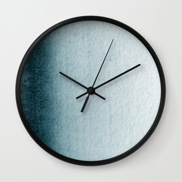 Teal Vertical Blur Abstract Art Wall Clock