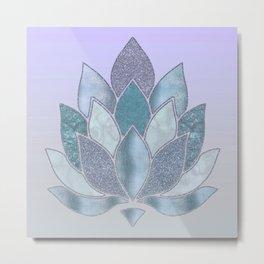 Elegant Glamorous Pastel Lotus Flower Metal Print