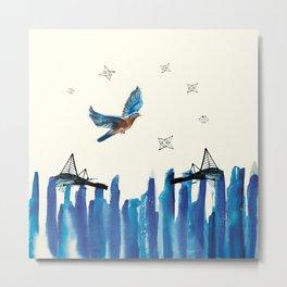 Flying among stars Metal Print