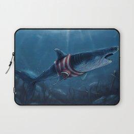 Shark in a Shirt Laptop Sleeve