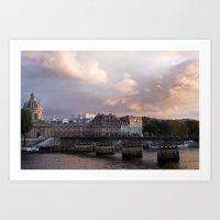 Seine Sunset Art Print