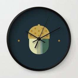october midnight acorn Wall Clock