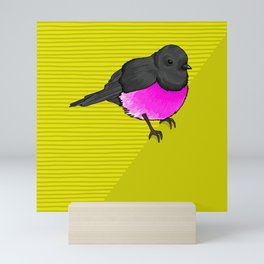 Pink Robin Mini Art Print