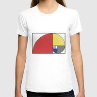 fibonacci T-shirts featuring Mondrian vs Fibonacci by Psocy Shop