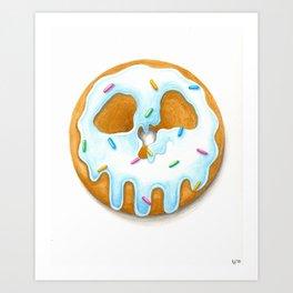 Death & Donuts (blue) Kunstdrucke