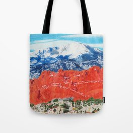 Pikes Peak Behind the Garden of the Gods Tote Bag