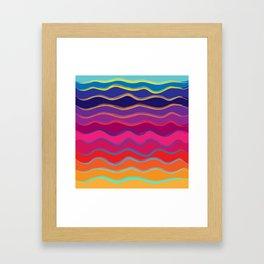 Wavy Color Tone Framed Art Print