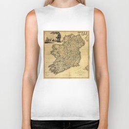 Vintage Map of Ireland (1797) Biker Tank