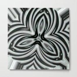 Imploding Zebra Metal Print