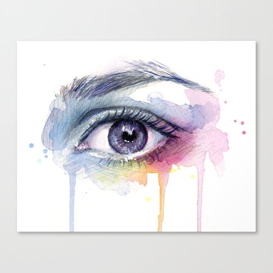 Colorful Eye Dripping Rainbow Canvas Print