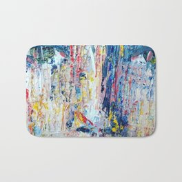 Portrait in the rain Bath Mat