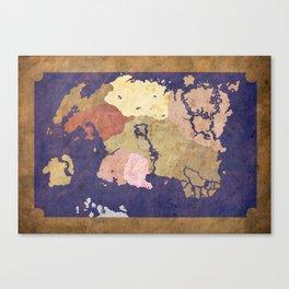 Tamriel Map simplistic (color) Canvas Print