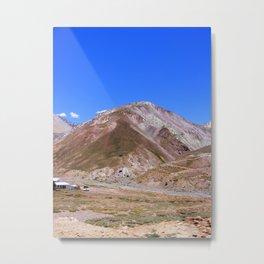 Vista de La Cordillera de Los Andes Metal Print