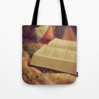 bible Tote Bags featuring Bible by KimberosePhotography