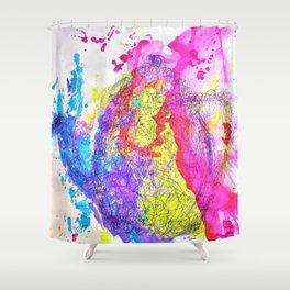 Rainbow Tea Shower Curtain