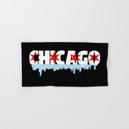 Chicago Flag Skyline Hand & Bath Towel
