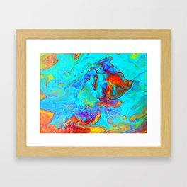 Underwater World Pour Framed Art Print