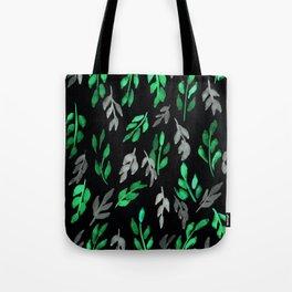 180726 Abstract Leaves Botanical Dark Mode 17|Botanical Illustrations Tote Bag