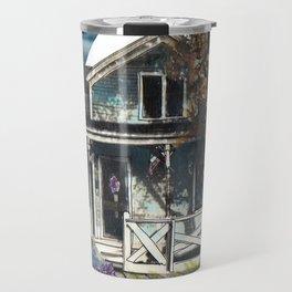 House, Vintage Mixed Media Photograph by Seattle Artist Mary Klump Travel Mug