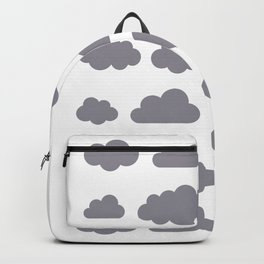 Grey clouds winter time art Backpack