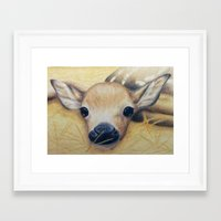 bambi Framed Art Prints featuring Bambi by Erin Schamberger