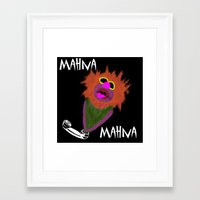 muppet Framed Art Prints featuring Mahna Mahna....great Muppet! by Linda V.