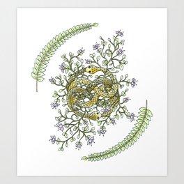 Neverending Story Inspired Auryn Garden Art Print