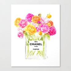 FLORAL No.5 PERFUME Canvas Print