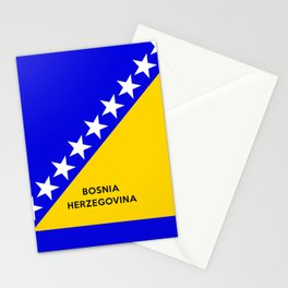 Bosnia and Herzegovina country flag name text Stationery Cards