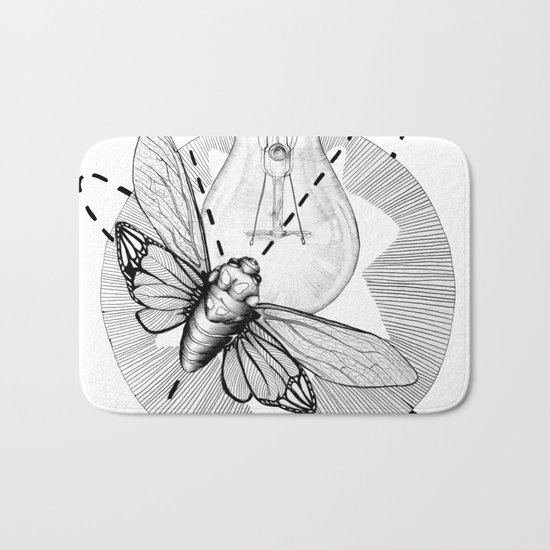 Moth to the Flame Bath Mat