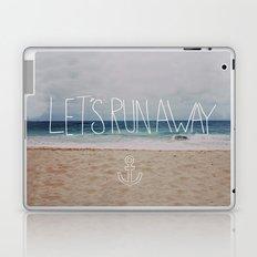 Let's Run Away | Sandy Beach, Hawaii Laptop & iPad Skin