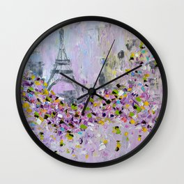 Spring in Paris # 2 Wall Clock