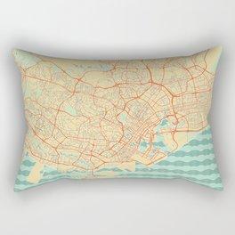 Singapore Map Retro Rectangular Pillow