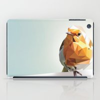 polygon iPad Cases featuring Polygon Robin by Andrew Mason