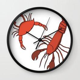 Lobster and Crab Wall Clock