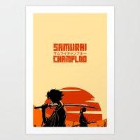 samurai champloo Art Prints featuring Sunrise - Samurai Champloo by rawjaat